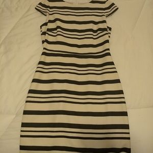 J. Crew Navy and cream dress